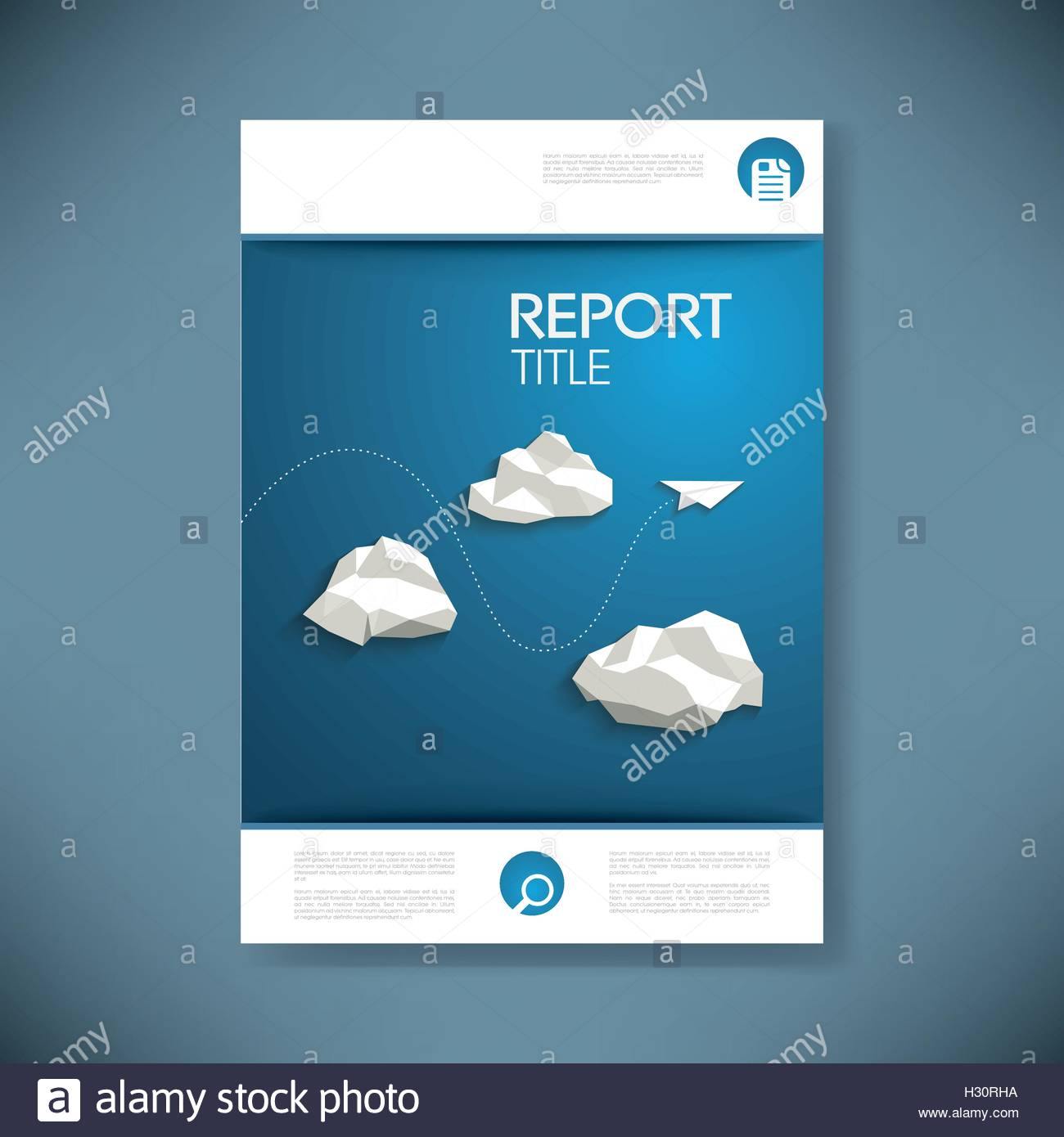 report cover template for business presentation or brochure. low, Low Poly Business Presentation Template, Presentation templates