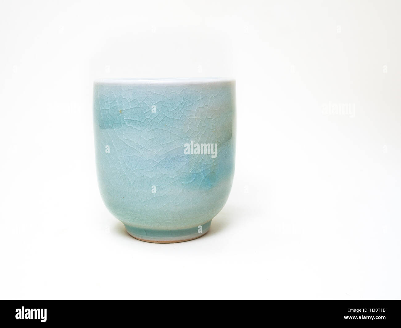 Japanes Tea Cup on white background - Stock Image