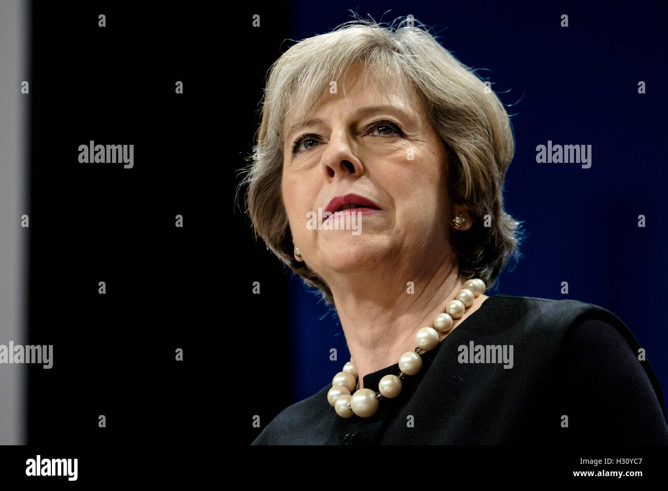 Conservative Party Conference  on 02/10/2016 at Birmingham ICC, Birmingham. Persons pictured: Theresa May, Prime - Stock Image