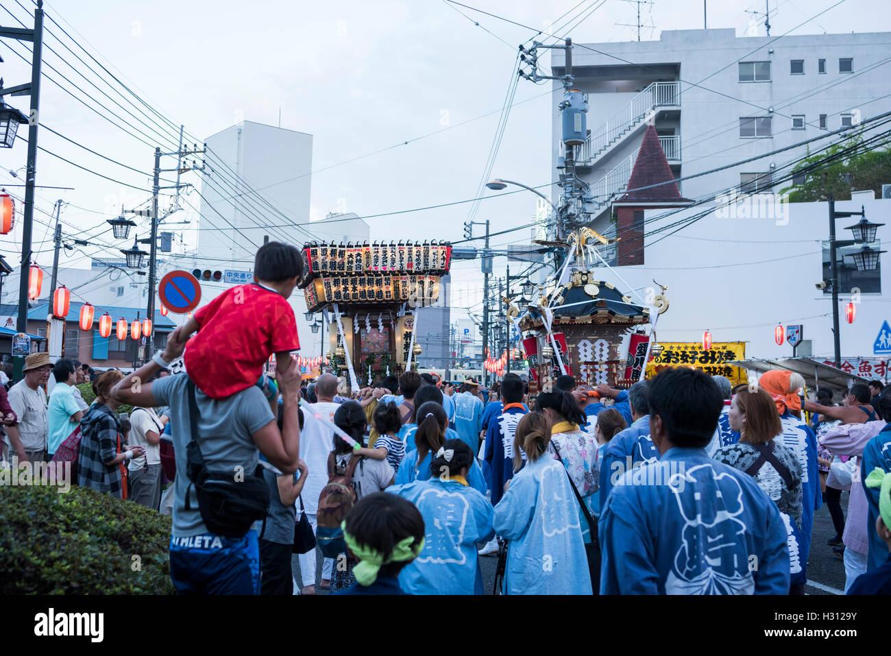 2nd October, 2016. Dokan Matsuri Festival is held, Isehara, Kanagawa, Japan. This festival comes from Dokan Ota Stock Photo