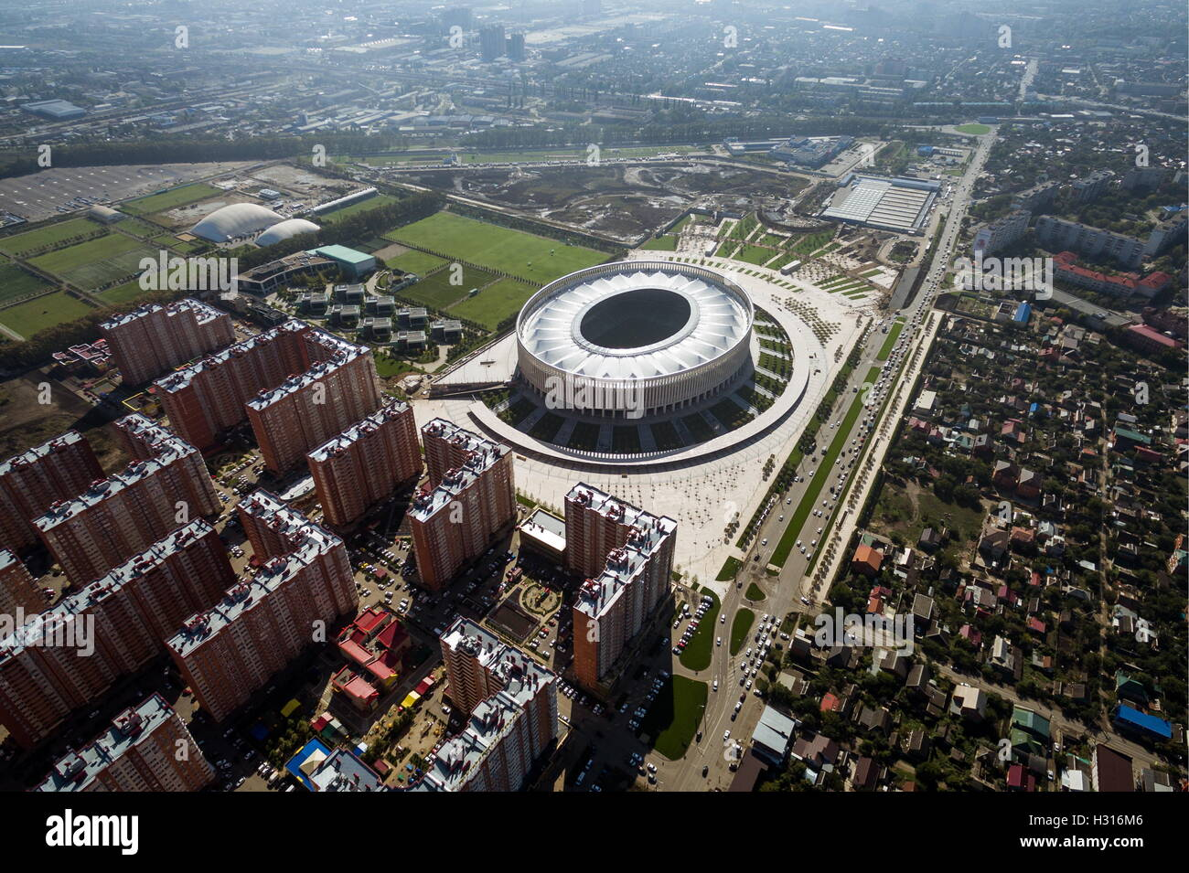 Krasnodar russia 3rd oct 2016 a view of the krasnodar stadium krasnodar russia 3rd oct 2016 a view of the krasnodar stadium the arena has a capacity of 33000 people and has received the highest category thecheapjerseys Images