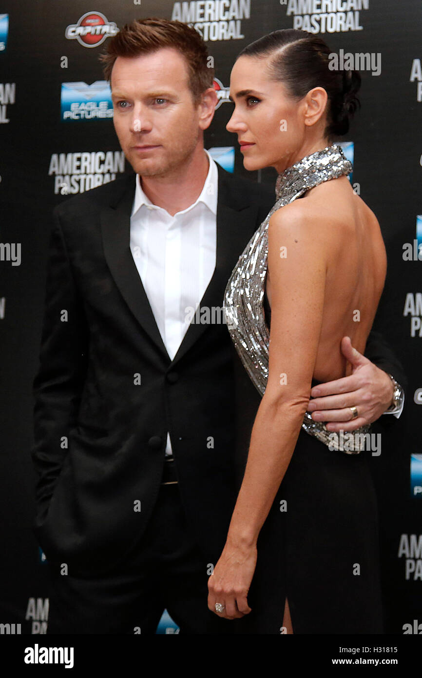 Rome, Italy. 03rd Oct, 2016. Ewan McGregor and Jennifer Connelly Rome 3rd October 2016. American Pastoral Premiere - Stock Image