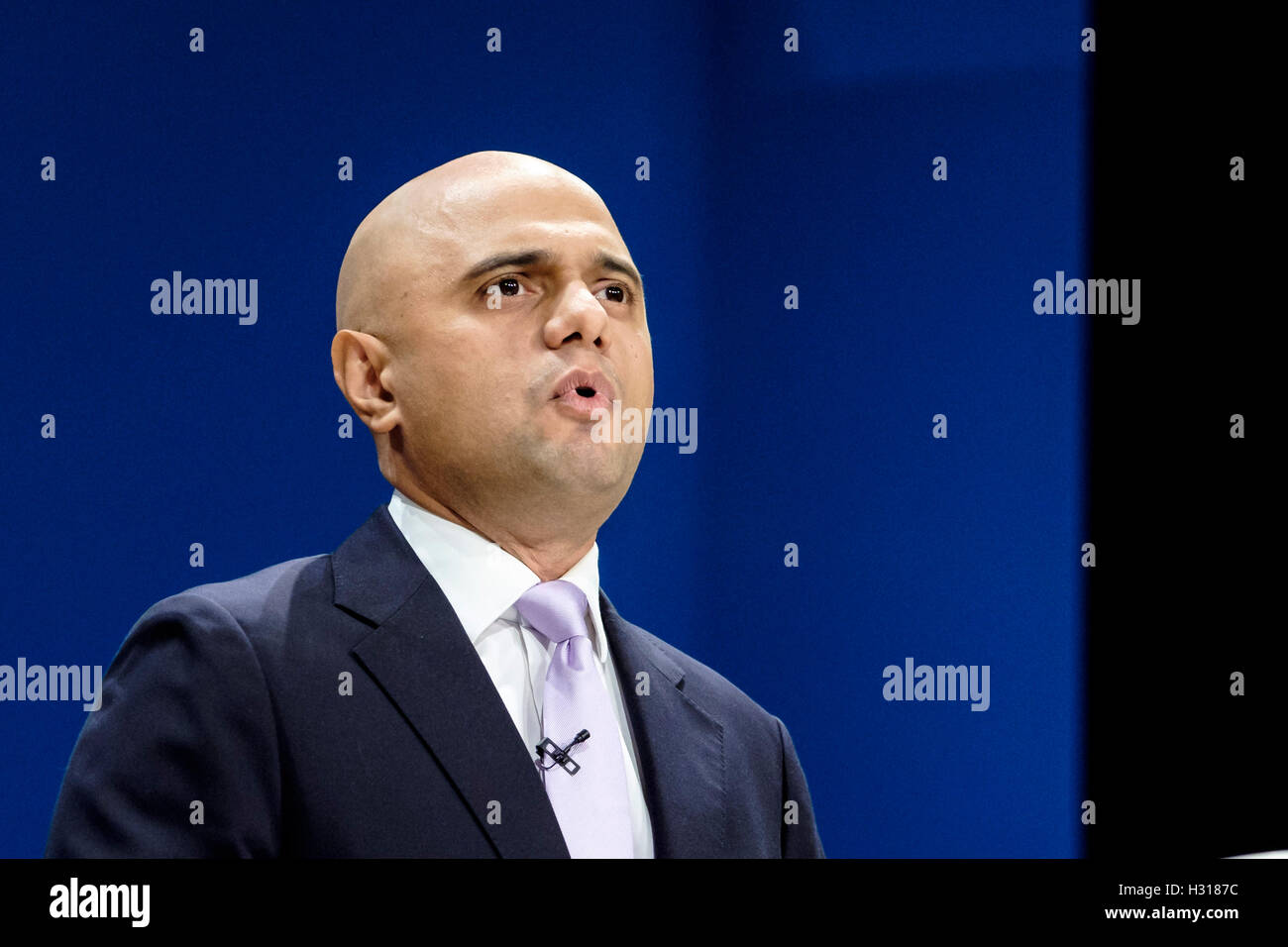 Conservative Party Conference day 2 on 03/10/2016 at Birmingham ICC, Birmingham. Persons pictured: Sajid Javid, - Stock Image