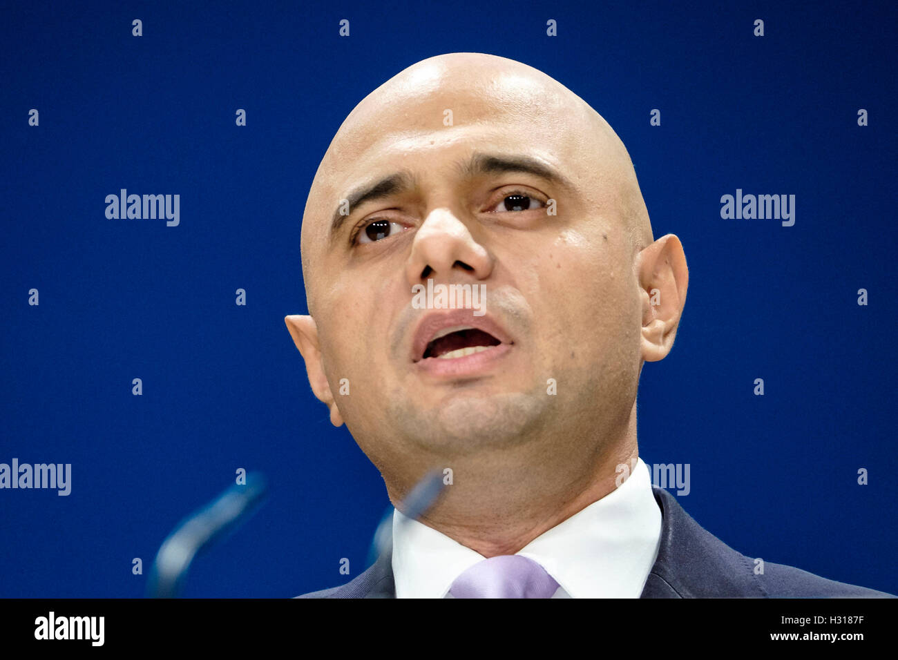 Conservative Party Conference day 2 on 03/10/2016 at Birmingham ICC, Birmingham. Persons pictured: Sajid Javid, Stock Photo