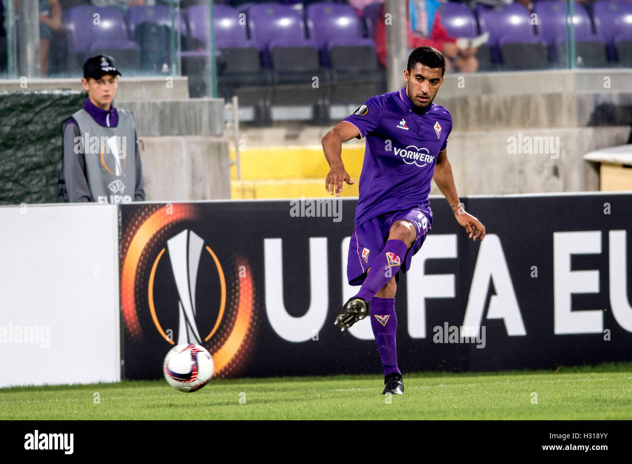 Firenze, Italy. 29th Sep, 2016. Maximiliano Olivera (Fiorentina) Football/Soccer : UEFA Europa League Group J match - Stock Image