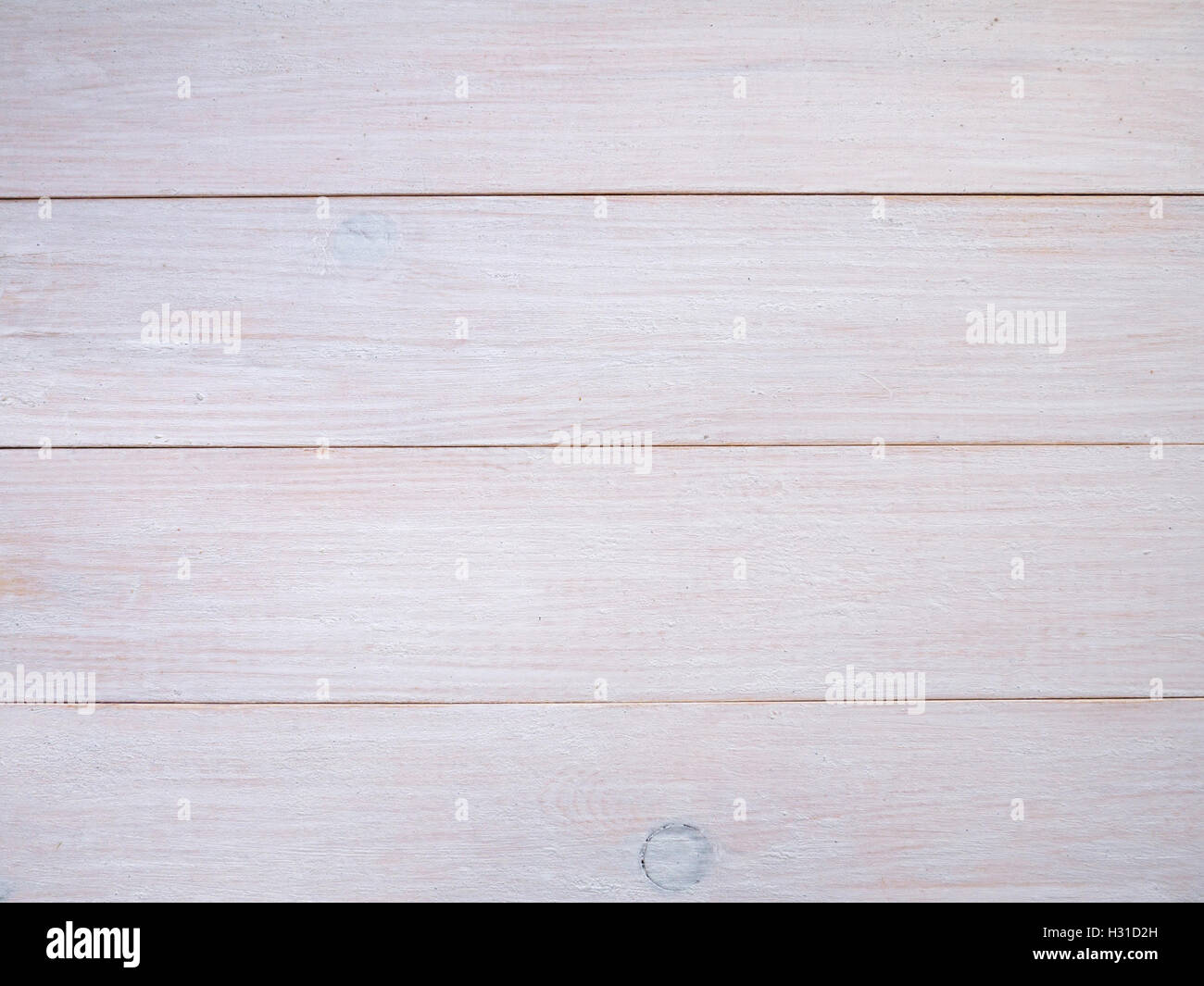 White wooden painted planks background - Stock Image