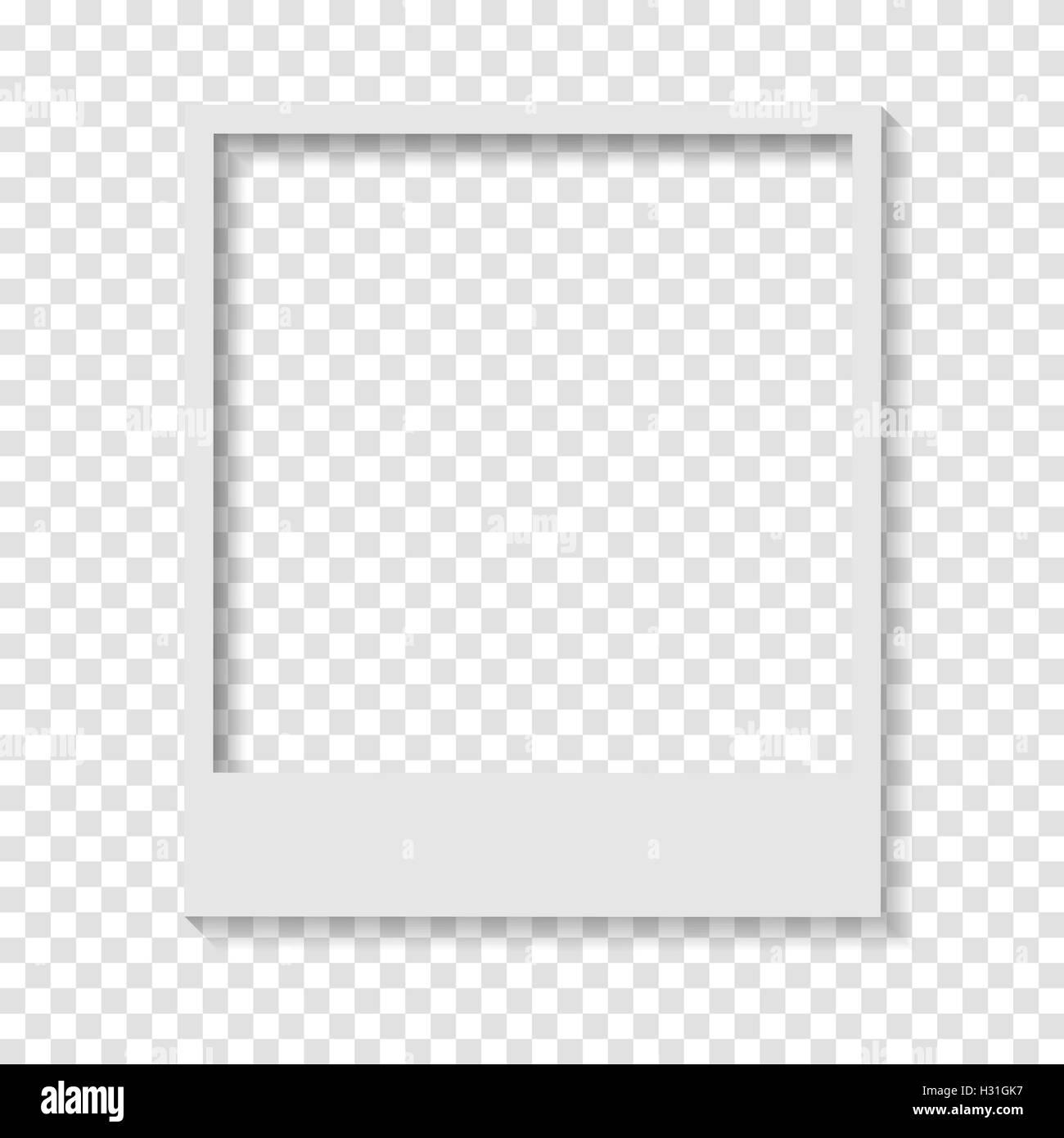 Polaroid paper frames