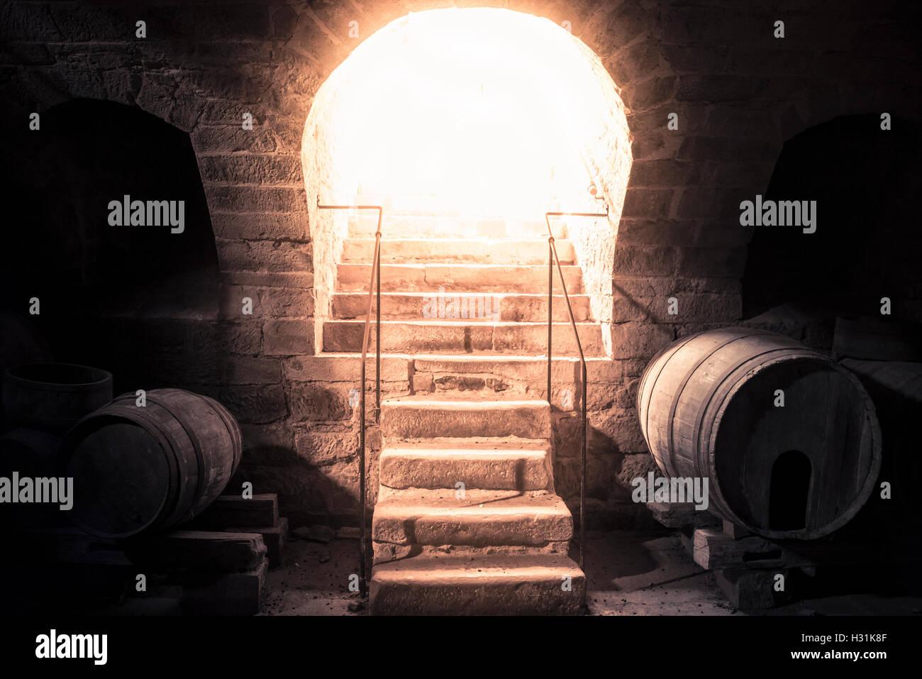 Lighting Basement Washroom Stairs: Scary Basement Stock Photos & Scary Basement Stock Images
