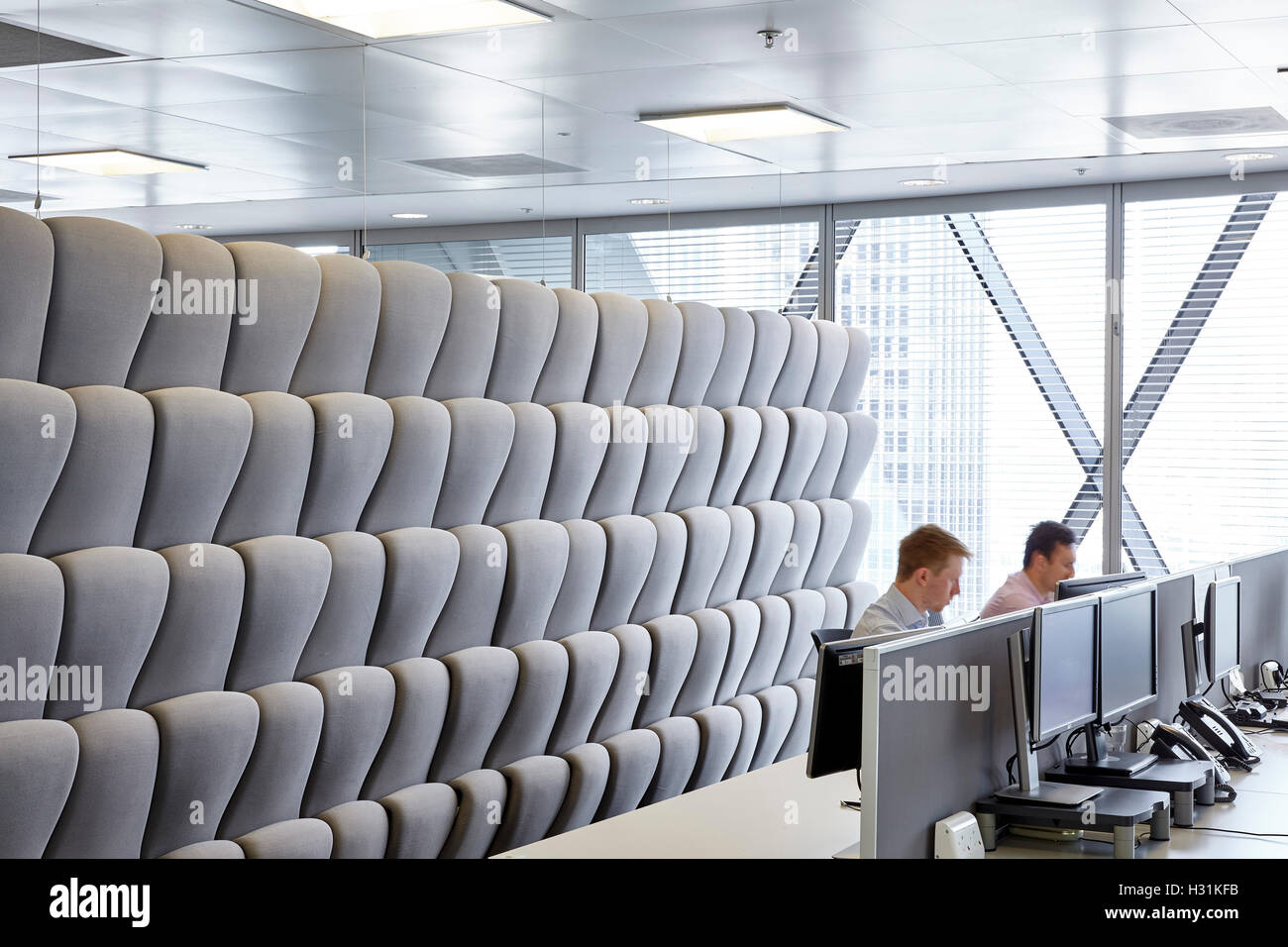 padded movable sound proof walls and ioffice workers at desks
