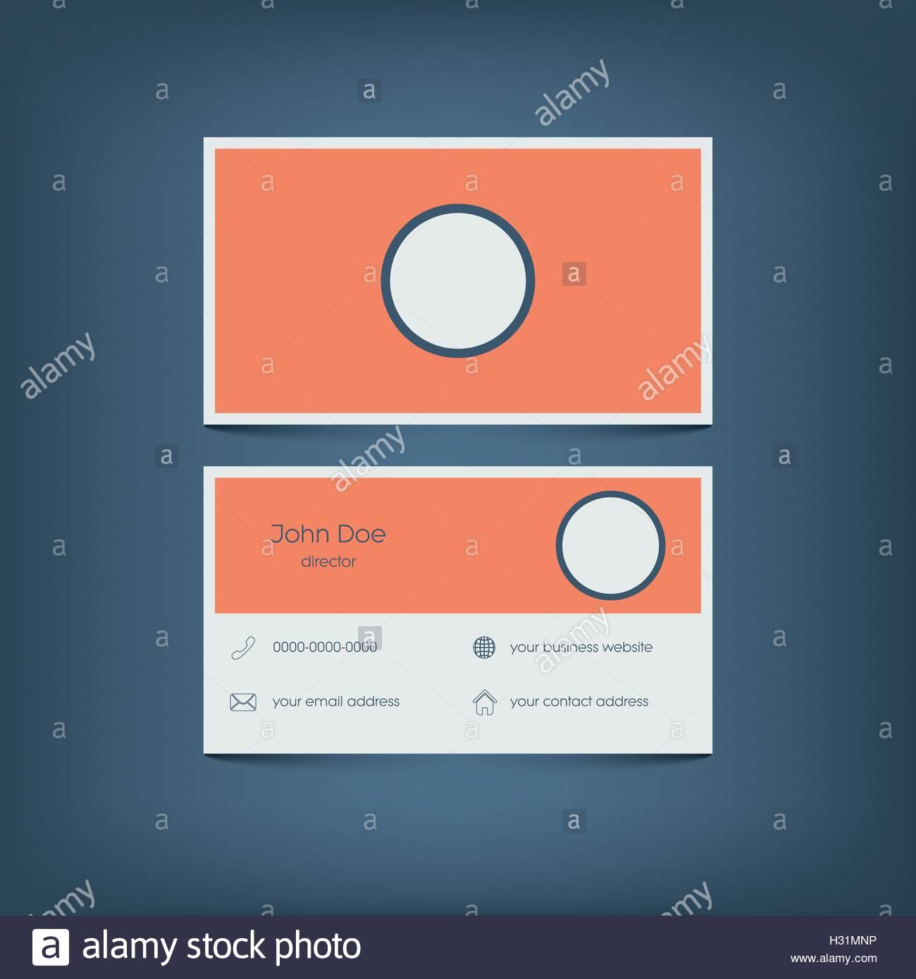 Modern Flat Design Business Card Template Graphic User Interface - Mobile business card template