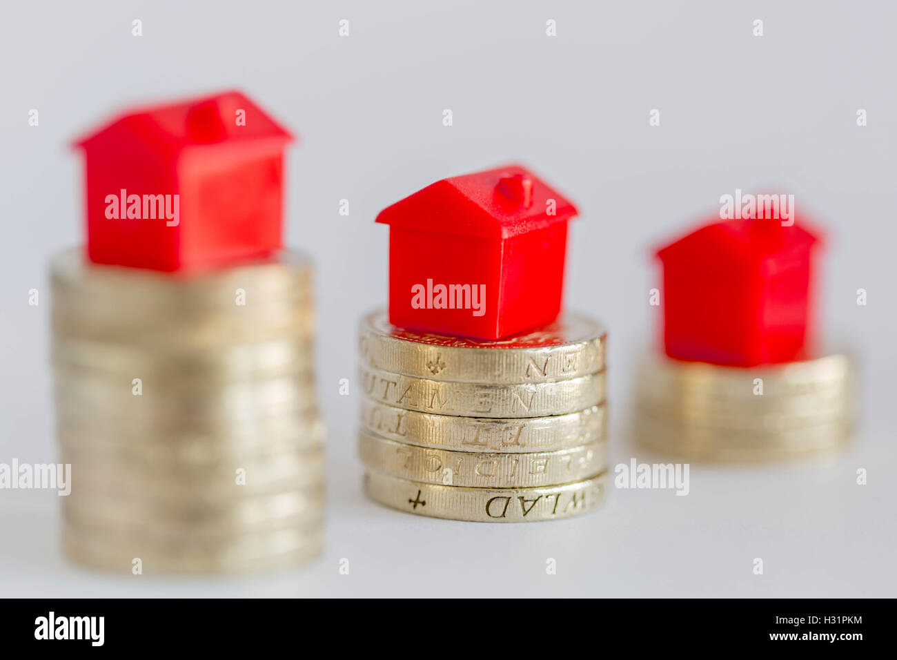 Concept image depicting housing/property markets. Stock Photo