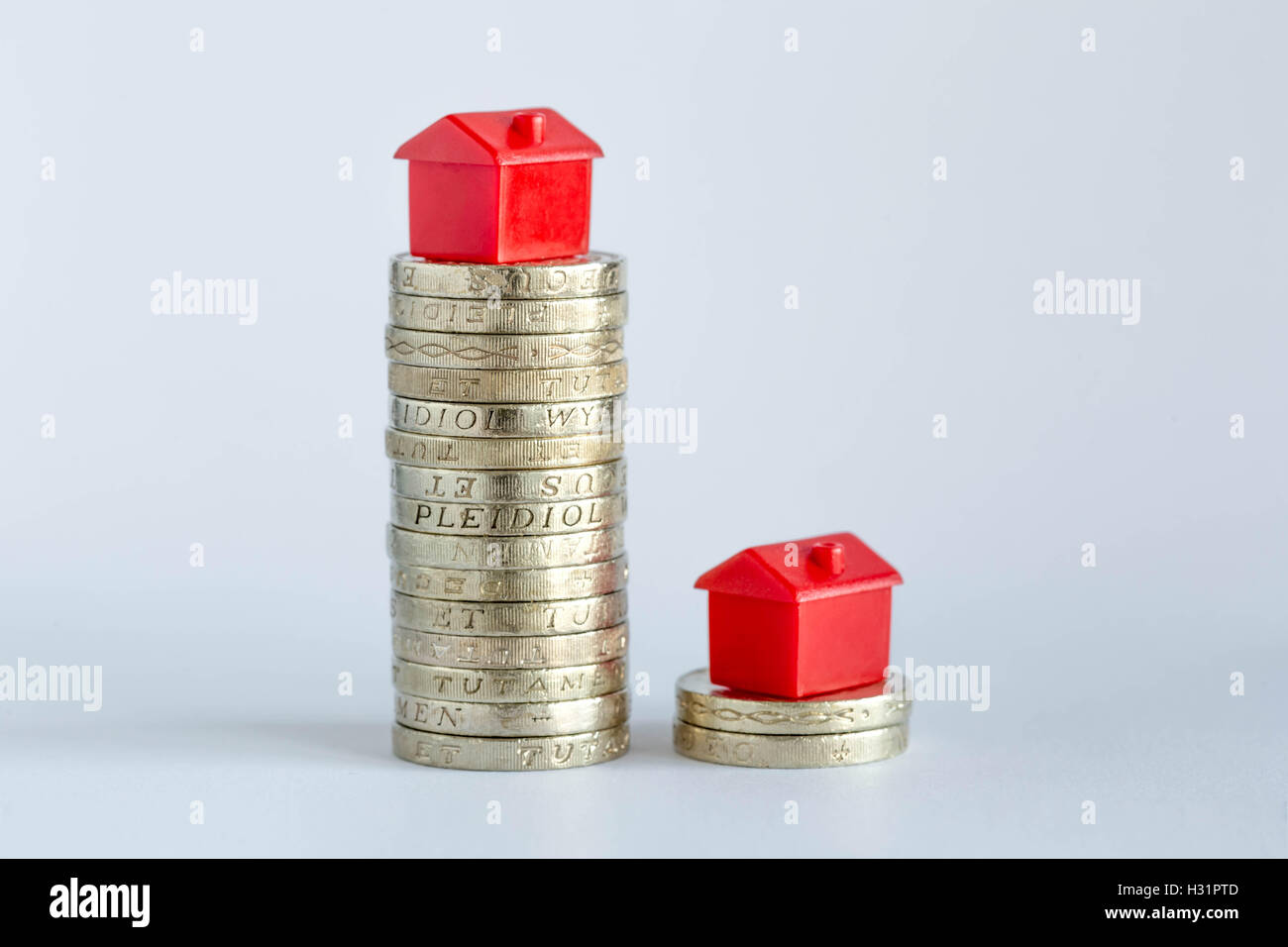 Concept image depicting housing/property markets. - Stock Image