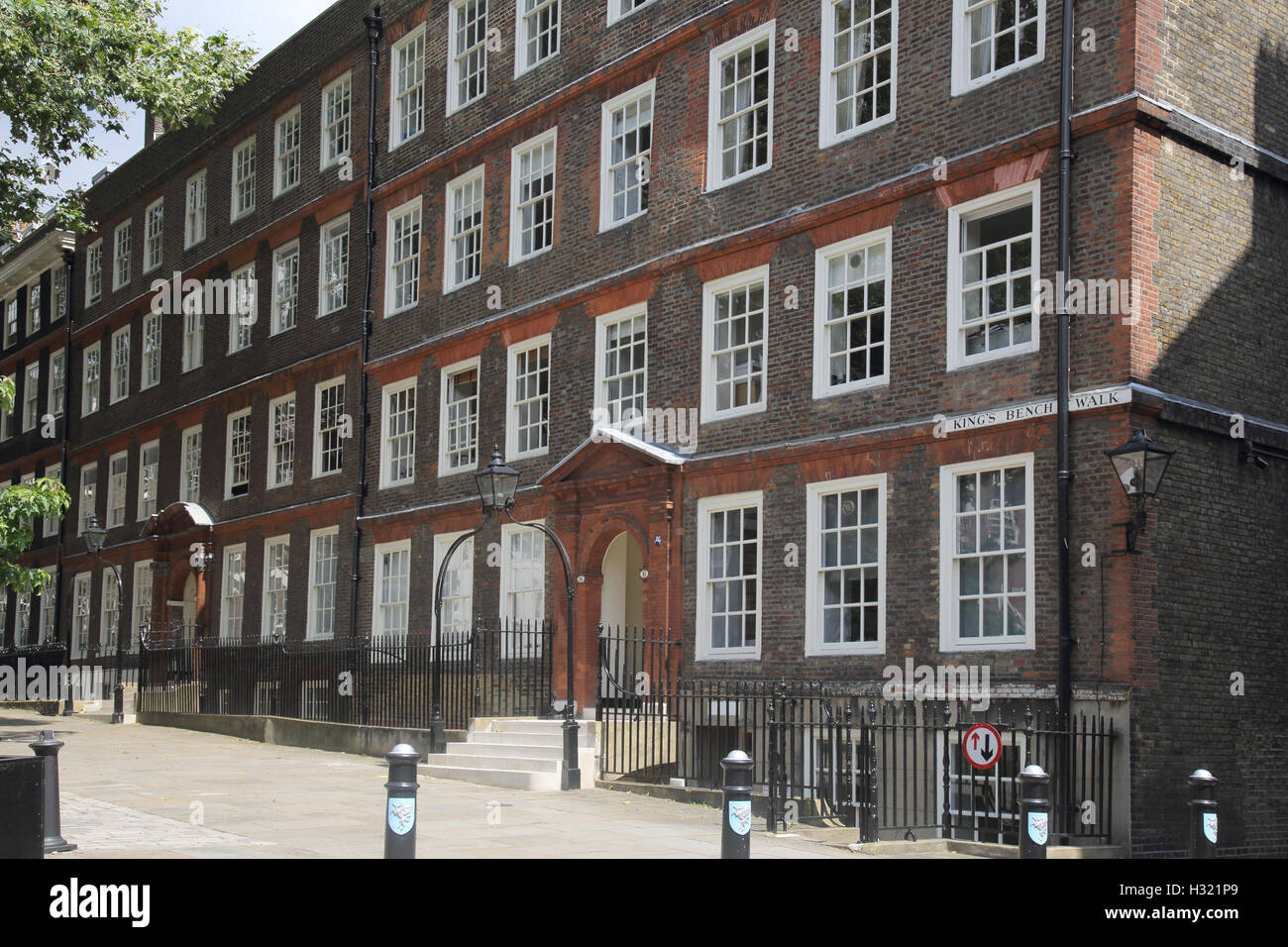 kings bench walk inns of court inner and middle temple london - Stock Image