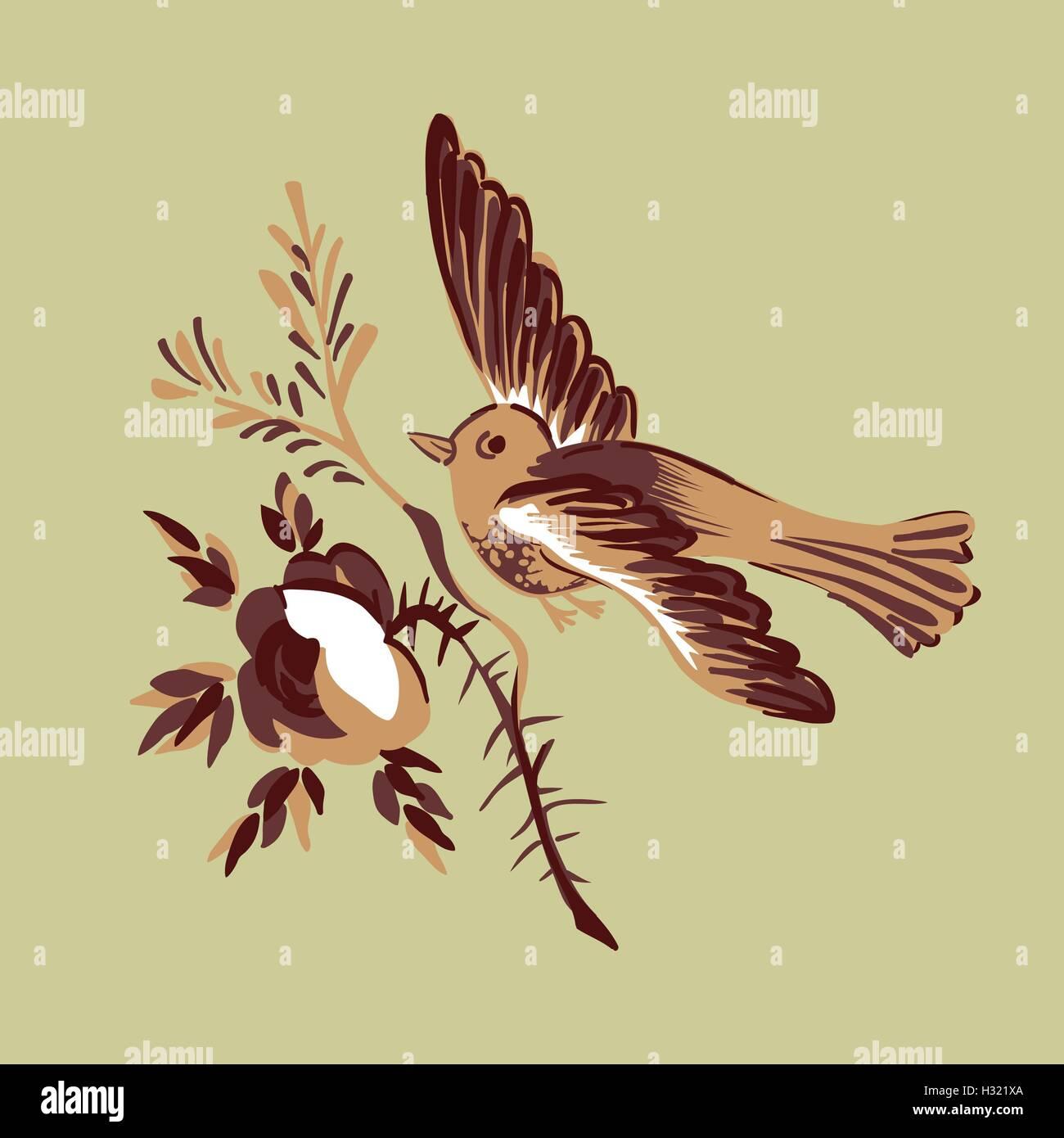 Flying Bird Stock Vector Images - Alamy