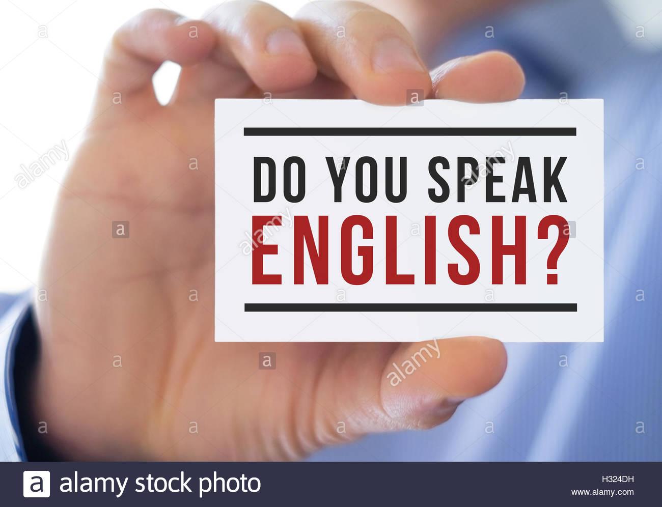 do you speak english - language education Stock Photo