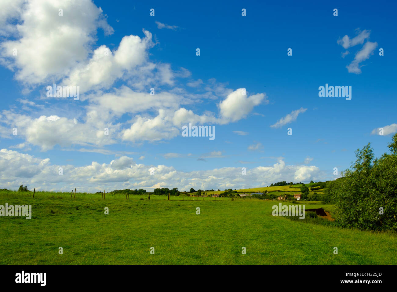 A View across the beautiful Warwickshire countryside - Stock Image