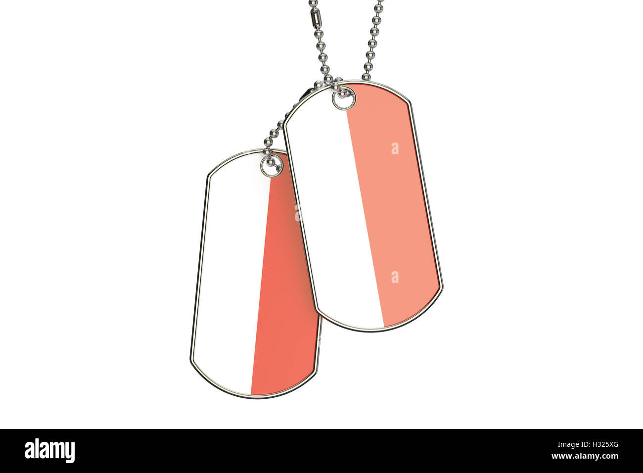 indonesian dog tags, 3d rendering isolated on white background