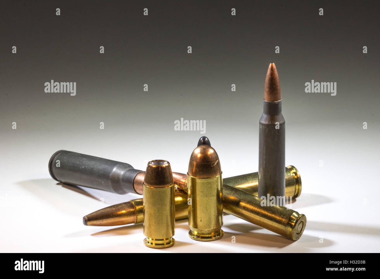 Various ammunition arrangements - Stock Image