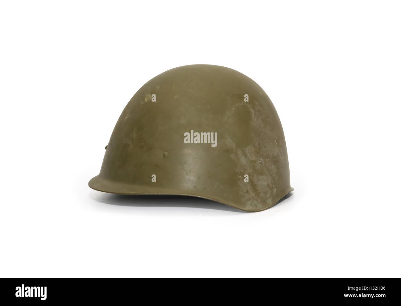 Old Soviet Helmet Stock Photo