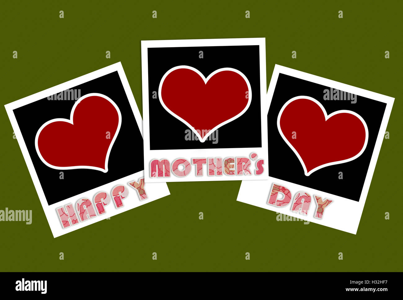 happy mothers day frame with heart concept Stock Photo: 122374203 ...