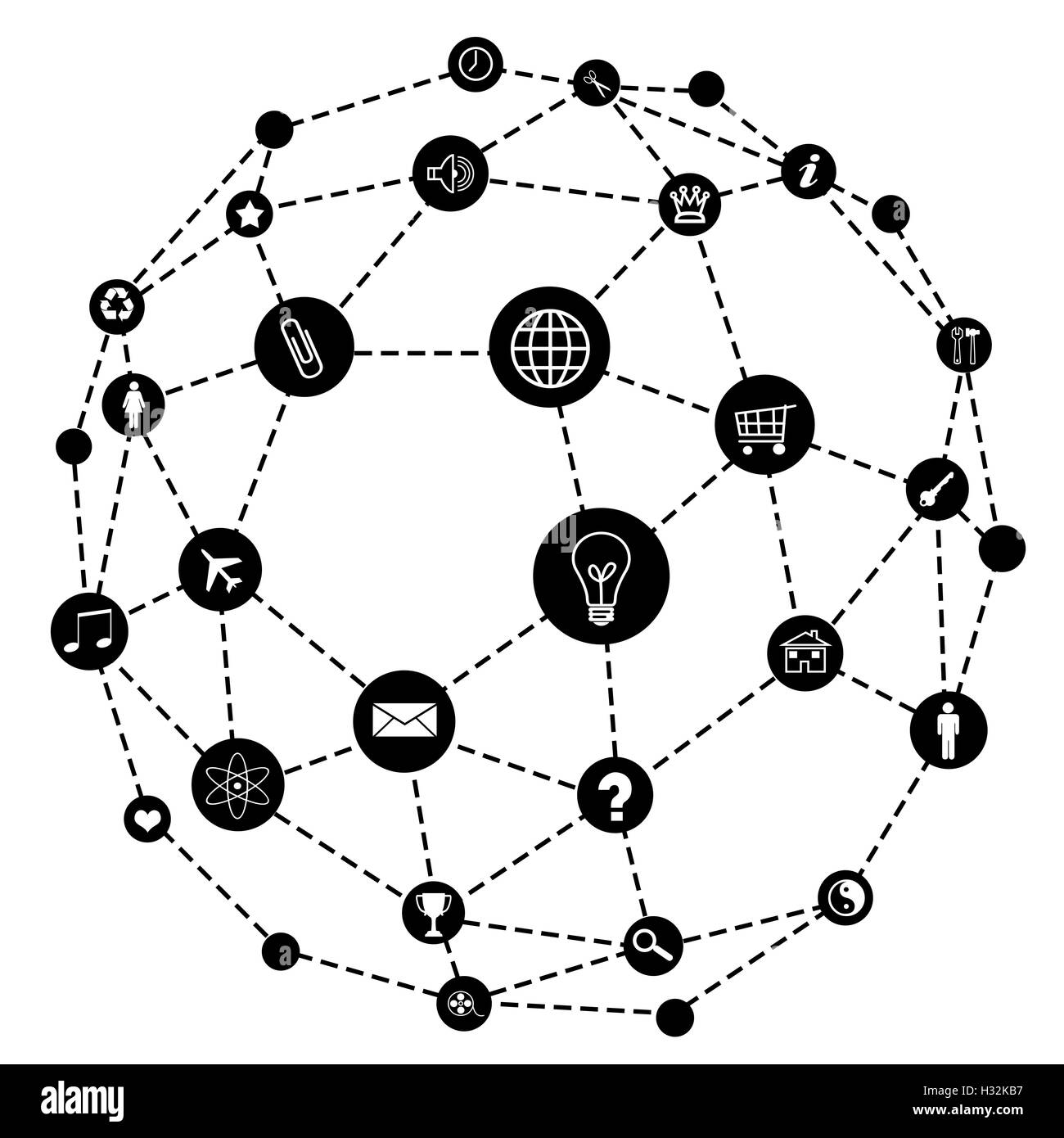 Wire frame sphere. Social network concept Stock Photo: 122375659 - Alamy