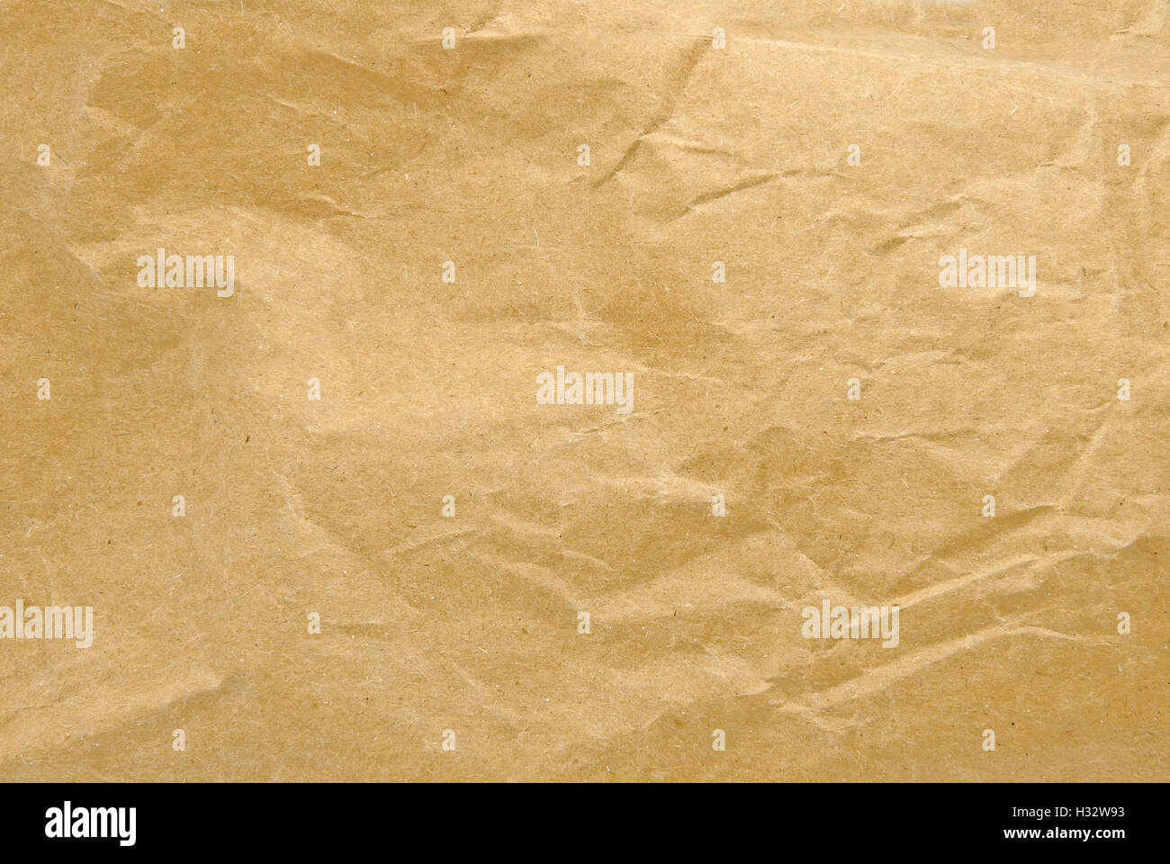 brown crumpled paper texture - Stock Image
