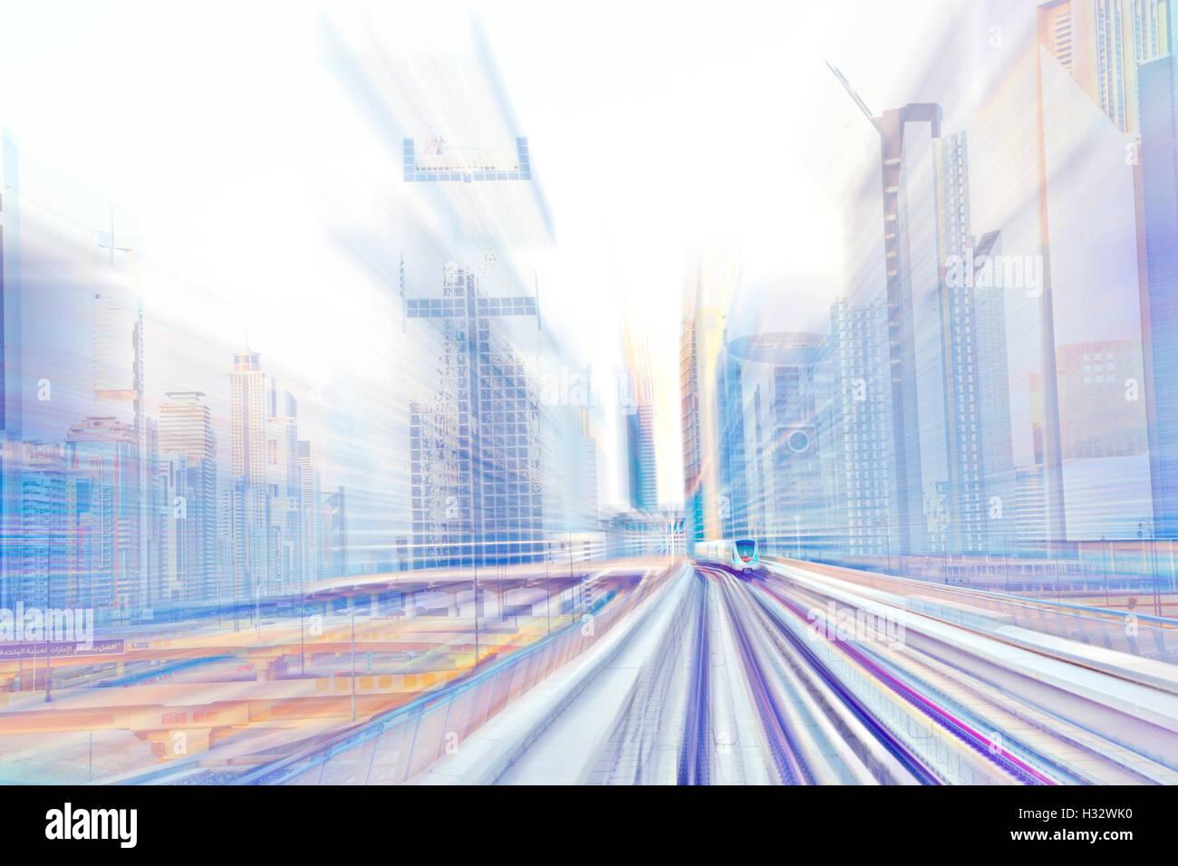 Metro train abstract - Stock Image
