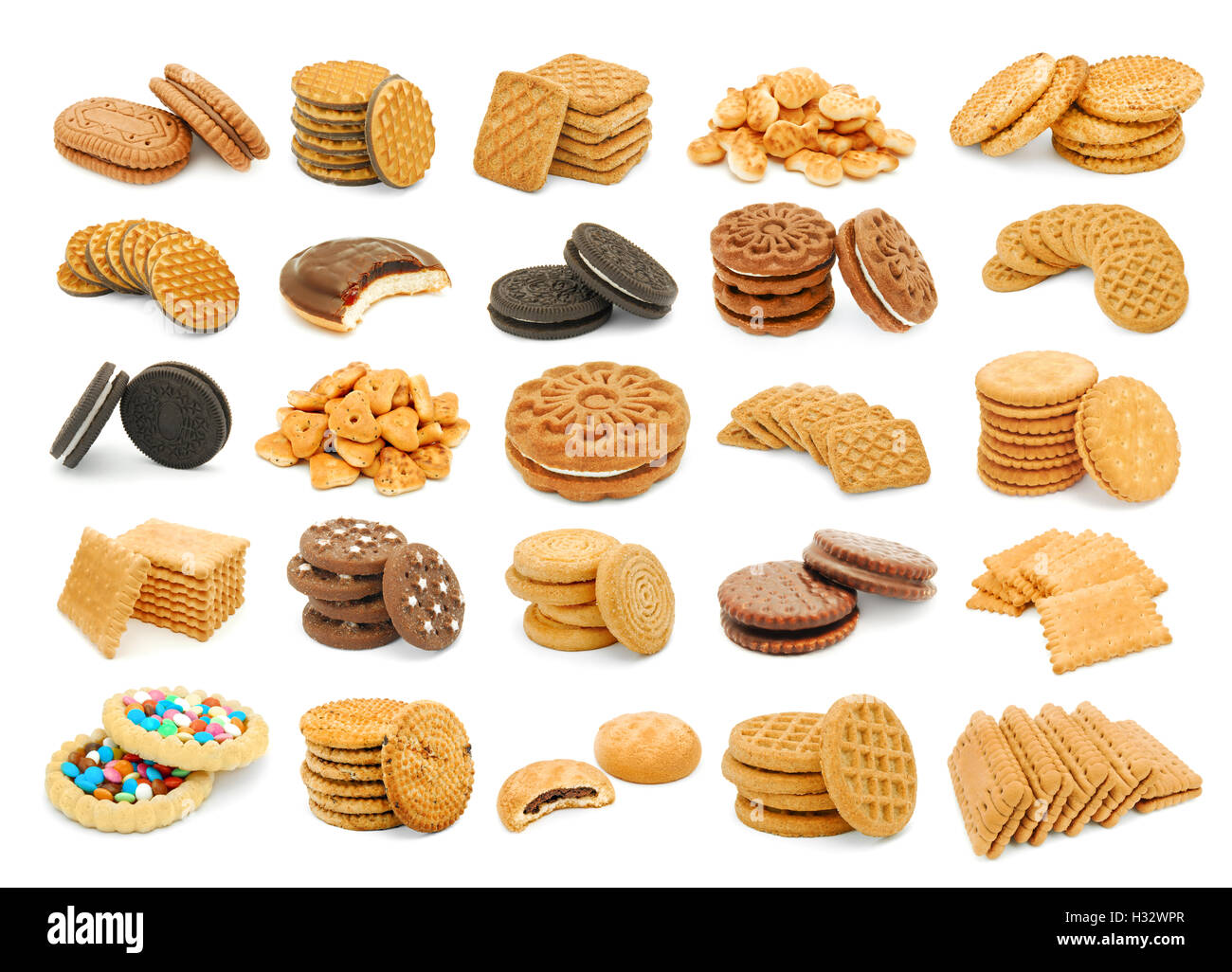 biscuits mix collage variation - Stock Image