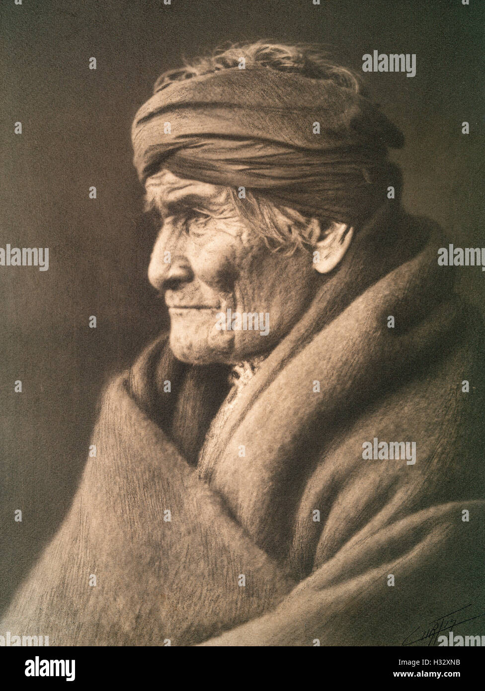 Geronimo, Apache. Native American Indian Stock Photo