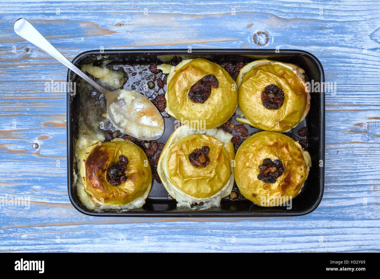 Homemade Baked Apples - Stock Image