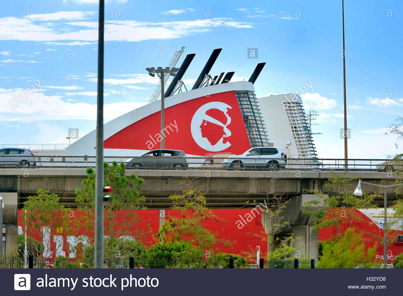 Marseille, Arenc area in the 2d district,  port of Marseille, Corsica linea - Stock Image