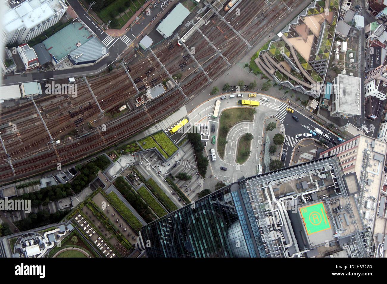 Aerial View Tokyo, Japan - Stock Image
