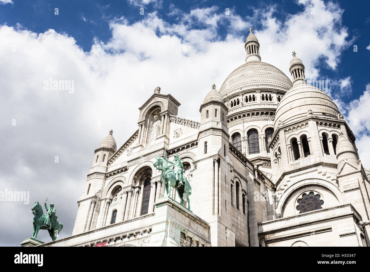 Basilica of the Sacred Heart of Jesus in Montmartre in Paris, France capital city. - Stock Image