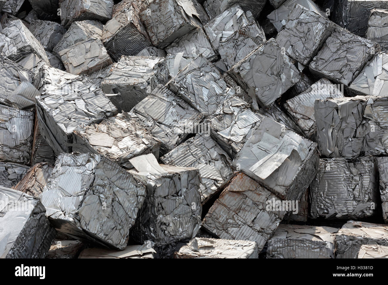 Metal waste from industrial production - Stock Image