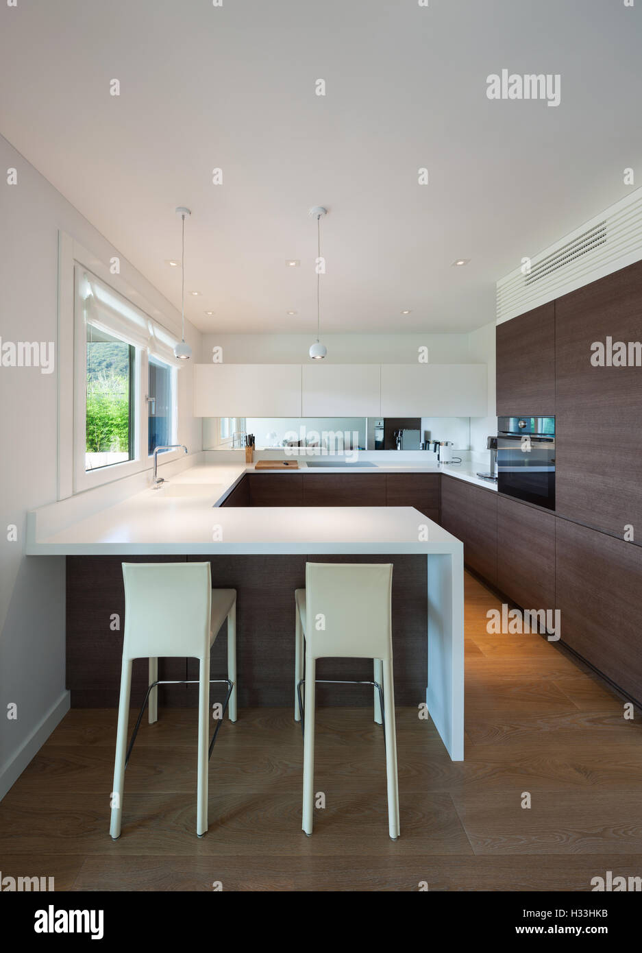 Luxury House Interior Modern Elegant Kitchen Stock Photo 122396271