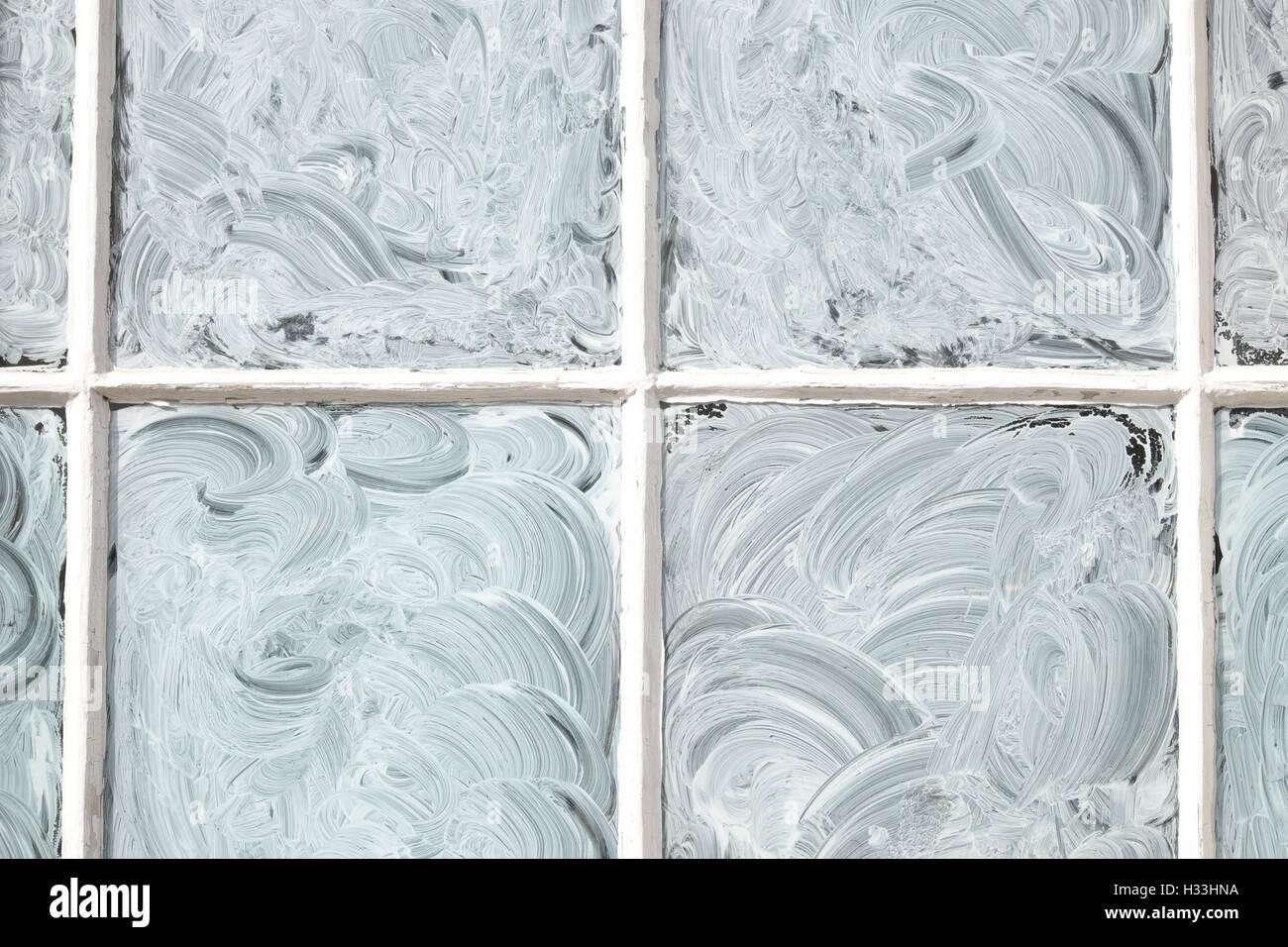 White washed window - Stock Image