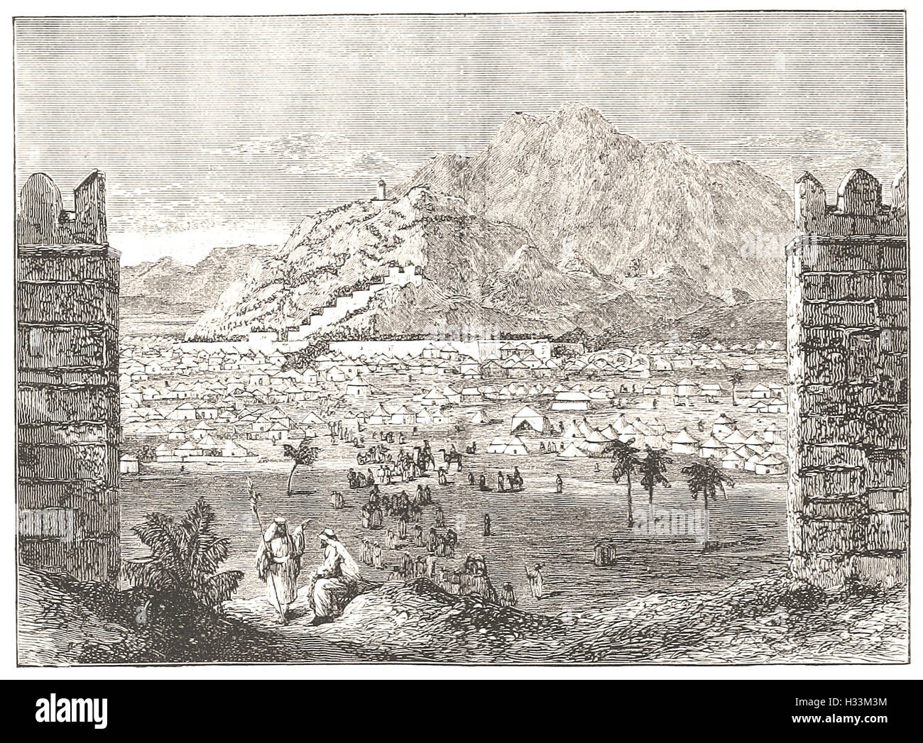 MOUNT ARAFAT, NEAR MECCA - from 'Cassell's Illustrated Universal History' - 1882 - Stock Image