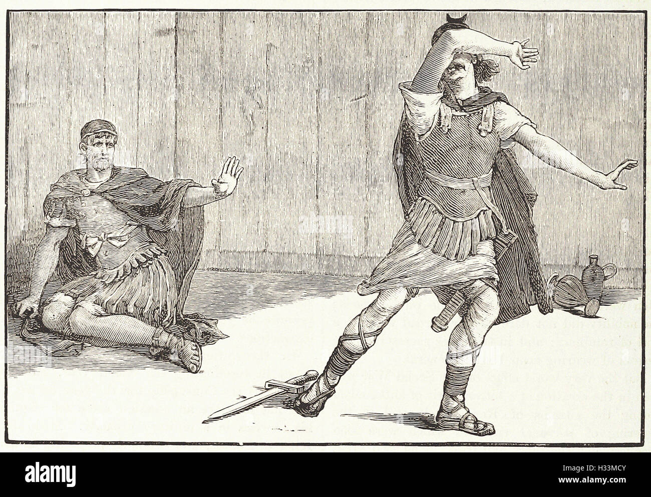 """ DURST THOU KILL CAIUS MAllIUS ? "" - from 'Cassell's Illustrated Universal History' - 1882 - Stock Image"