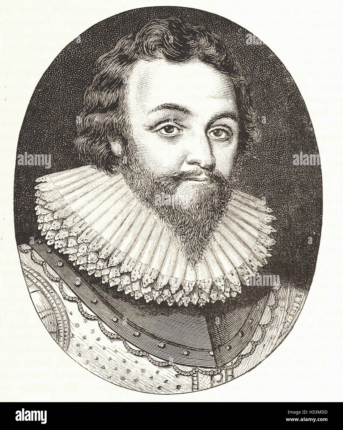 SIR FRANCIS DRAKE - from 'Cassell's Illustrated Universal History' - 1882 - Stock Image