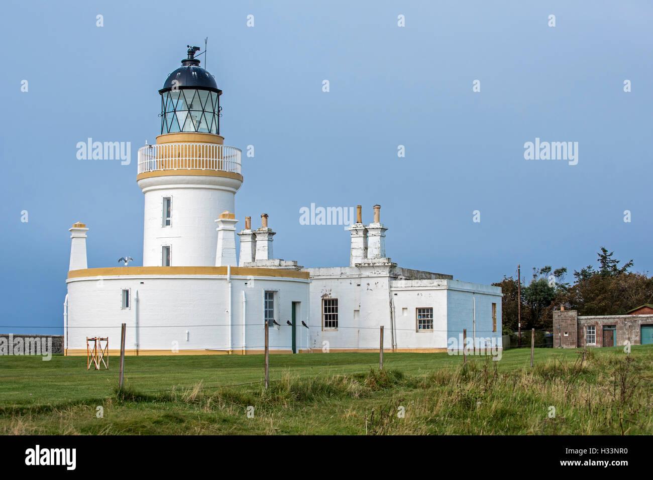 Lighthouse at Chanonry Point on the Black Isle, Moray Firth, Scotland, UK, Scotland, UK - Stock Image