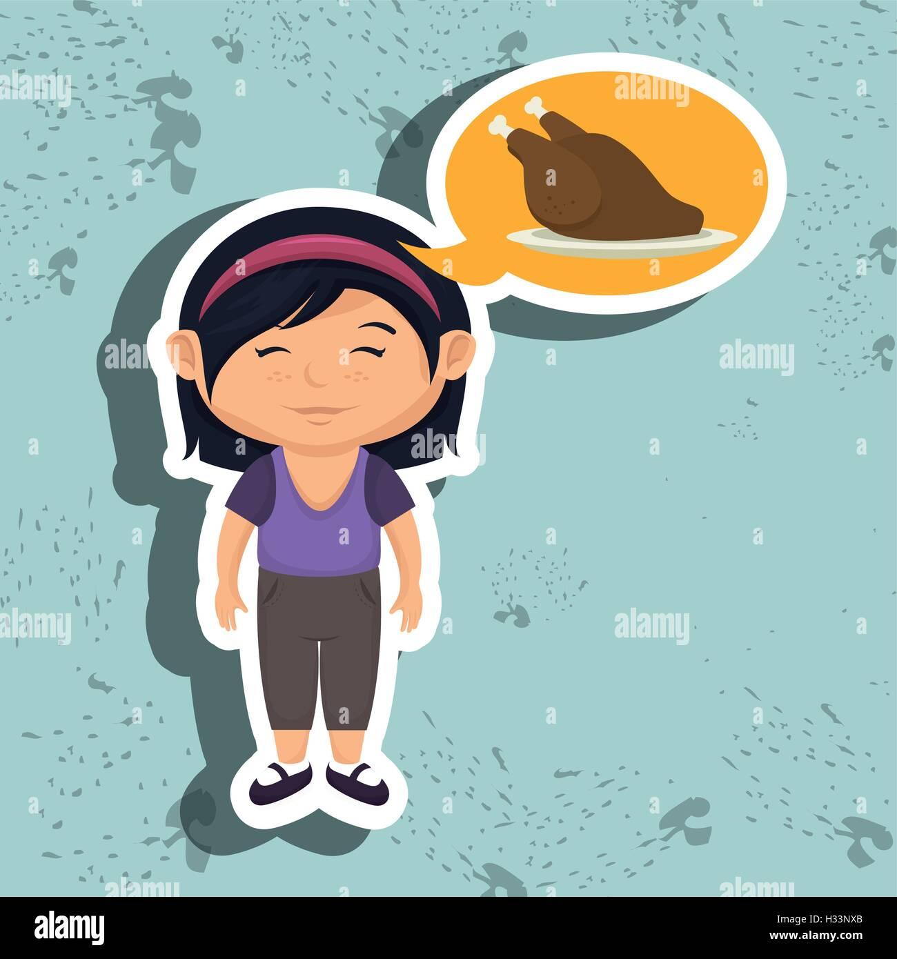 Chicken Food Cartoon
