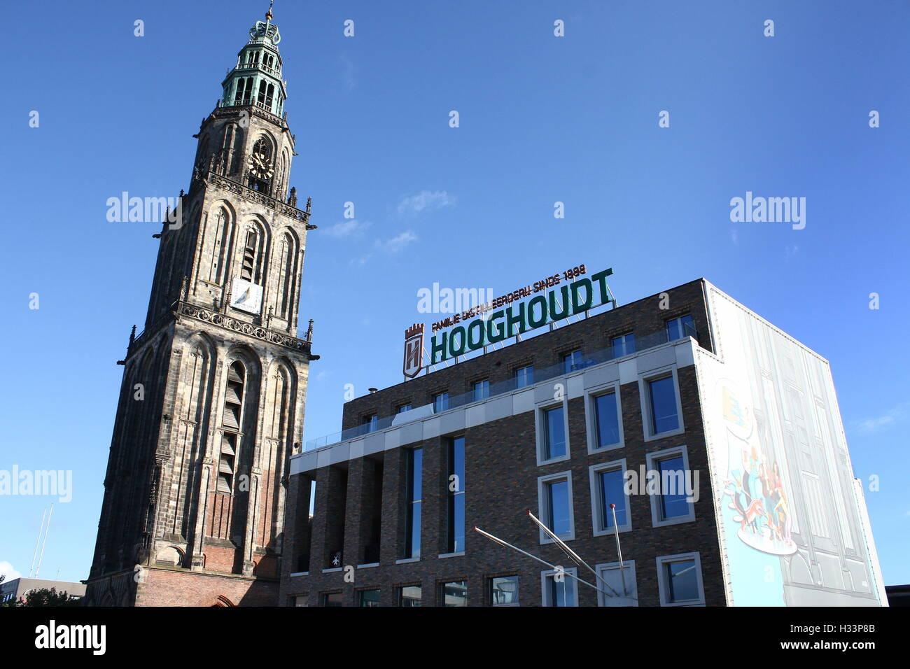 Society building Mutua Fides, student association Vindicat Atque Polit, Grote Markt,  Groningen, Netherlands with Stock Photo