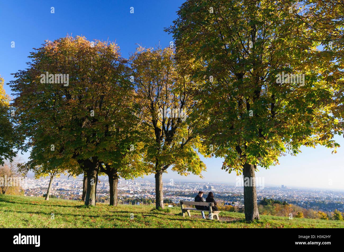 "Wien, Vienna: View of Vienna from the Hill 'Himmel"", 00., Wien, Austria - Stock Image"