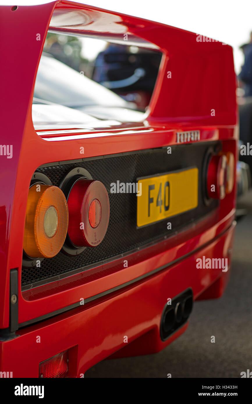 Ferrari F40 rear - Stock Image