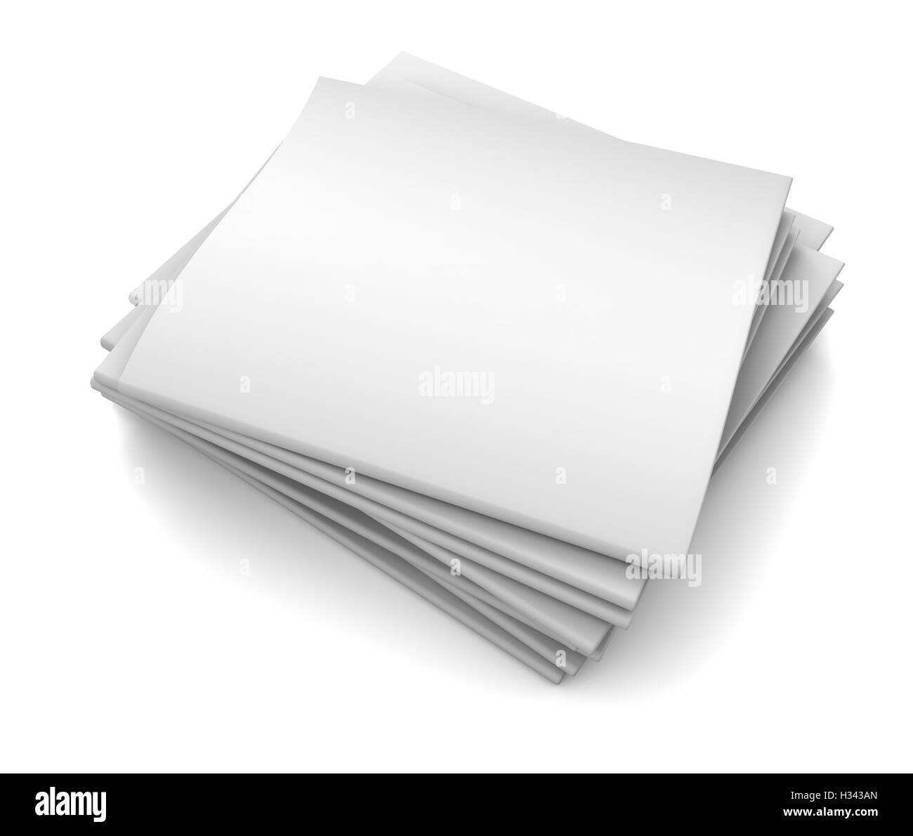 newspaper  isolated 3d illustration - Stock Image