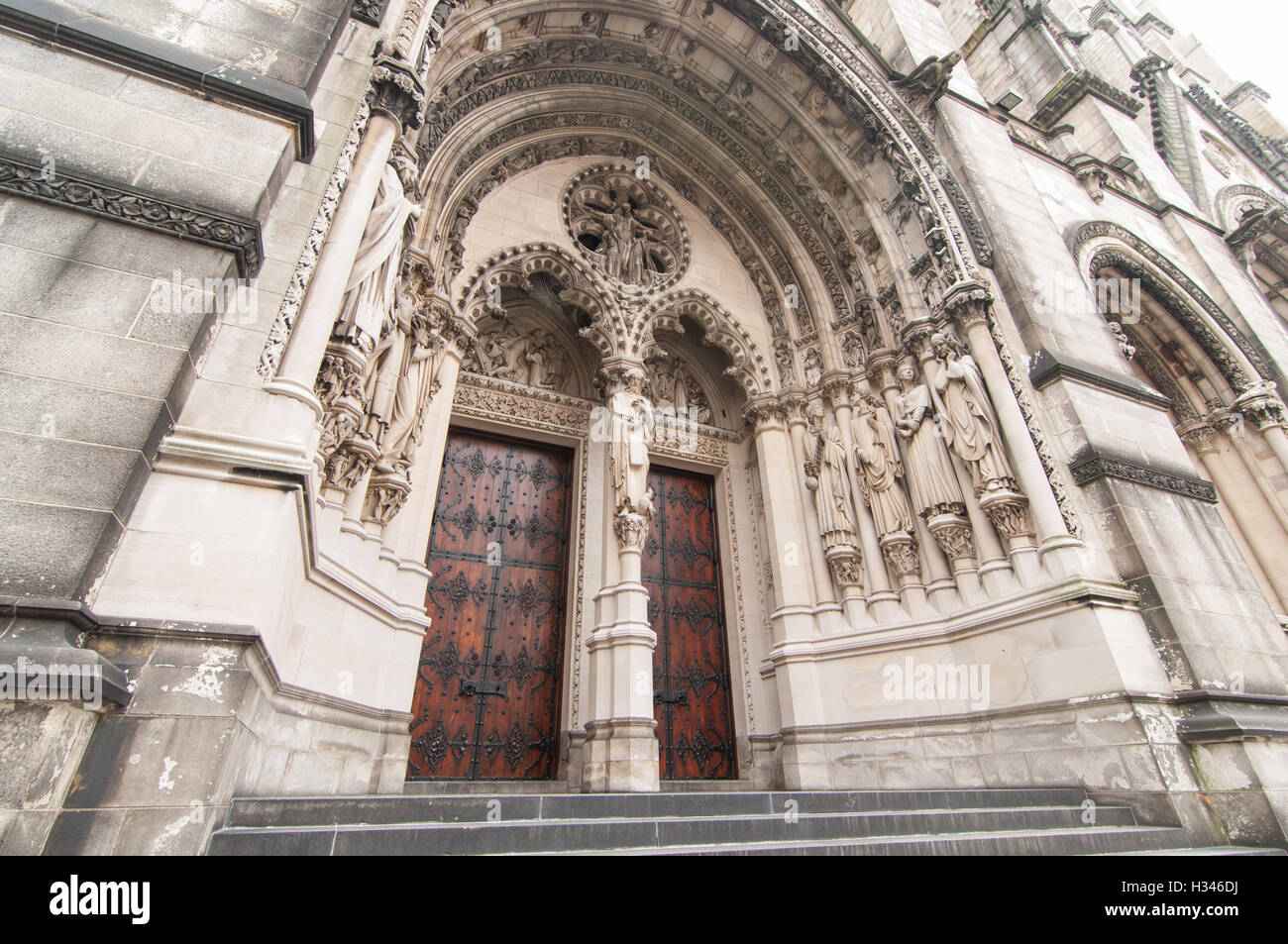 Doors of New York City cathedral St. John the Divine, New York - Stock Image