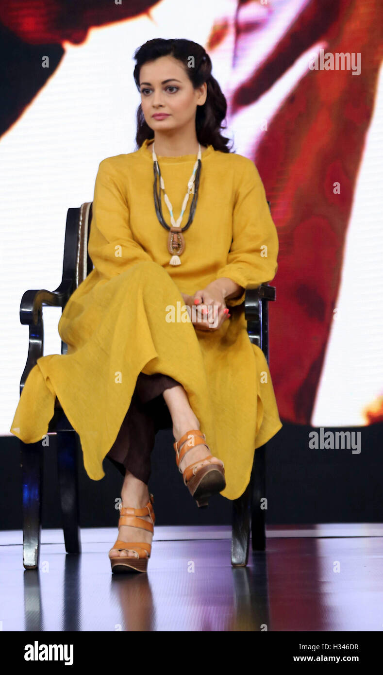 Bollywood actor Diya Mirza during the NDTV Youth for change on the  environment issue in New Delhi 5f3246bbe