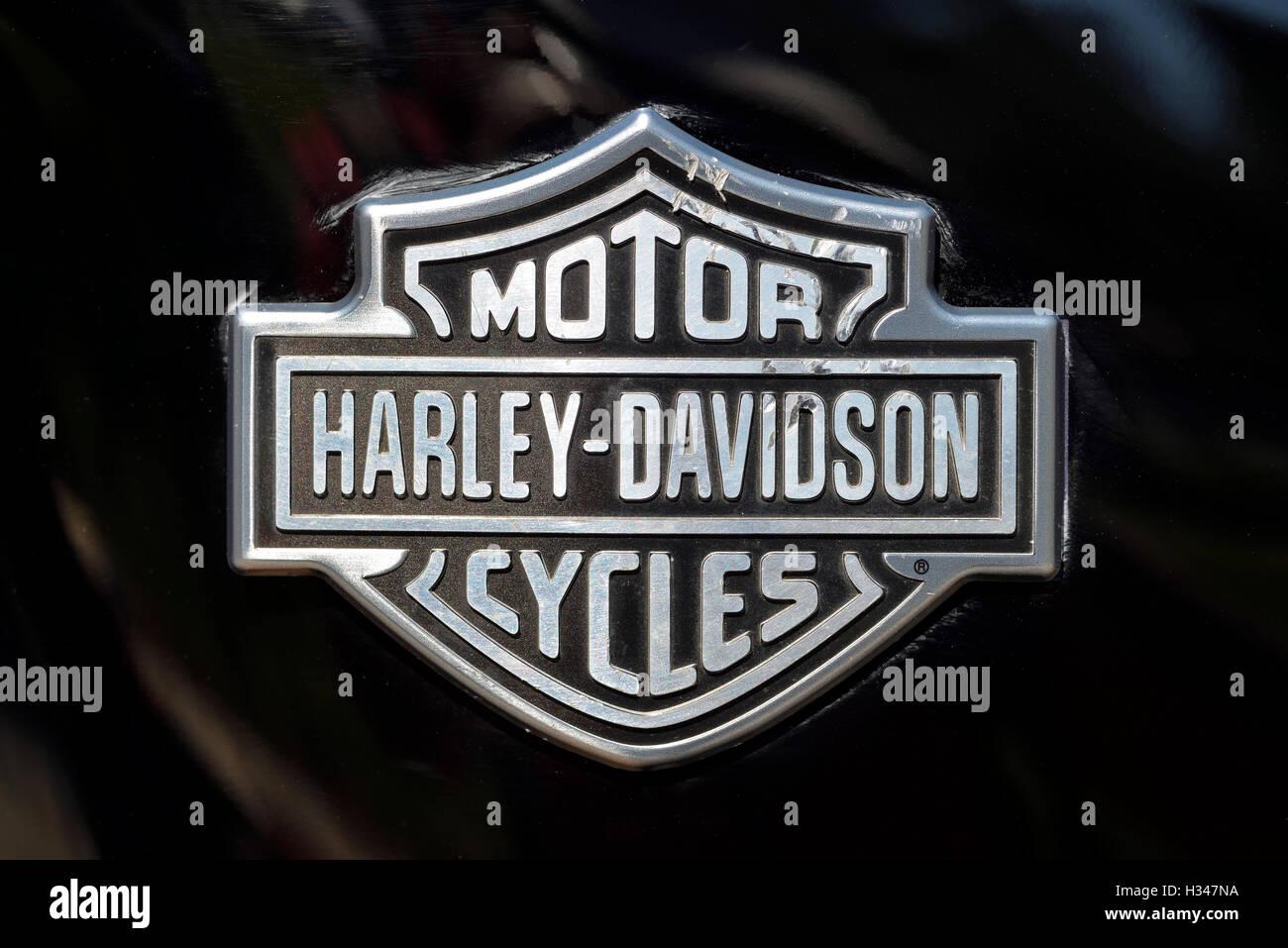 Harley-Davidson badge - Stock Image
