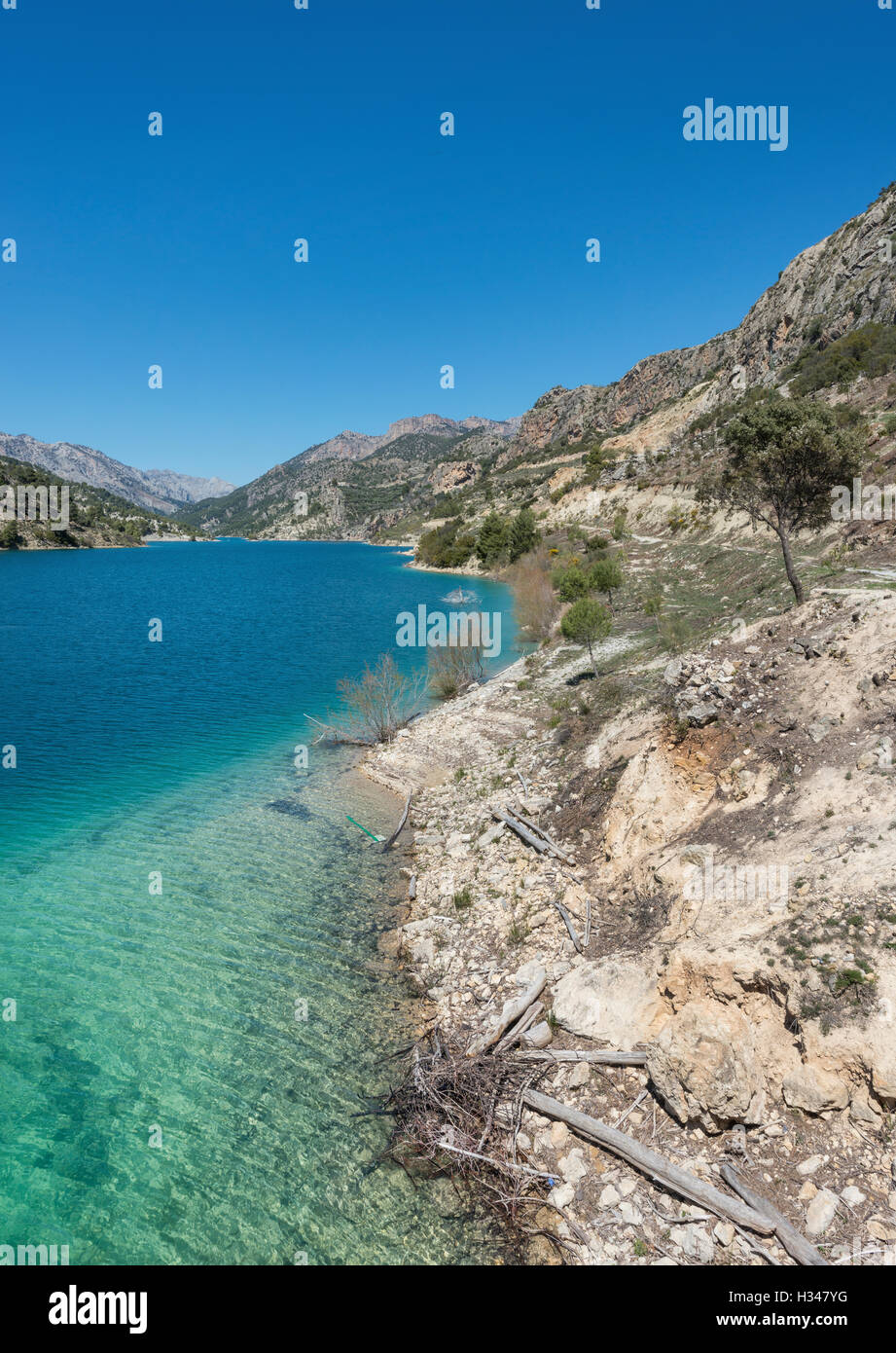 El Portillo Reservoir, Castril, Granada Province, Andalusia, Spain Stock Photo
