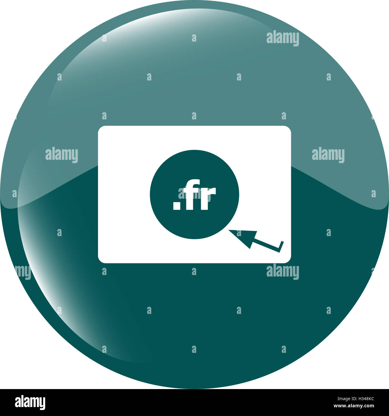 Domain FR sign icon. Top-level internet domain symbol - Stock Image